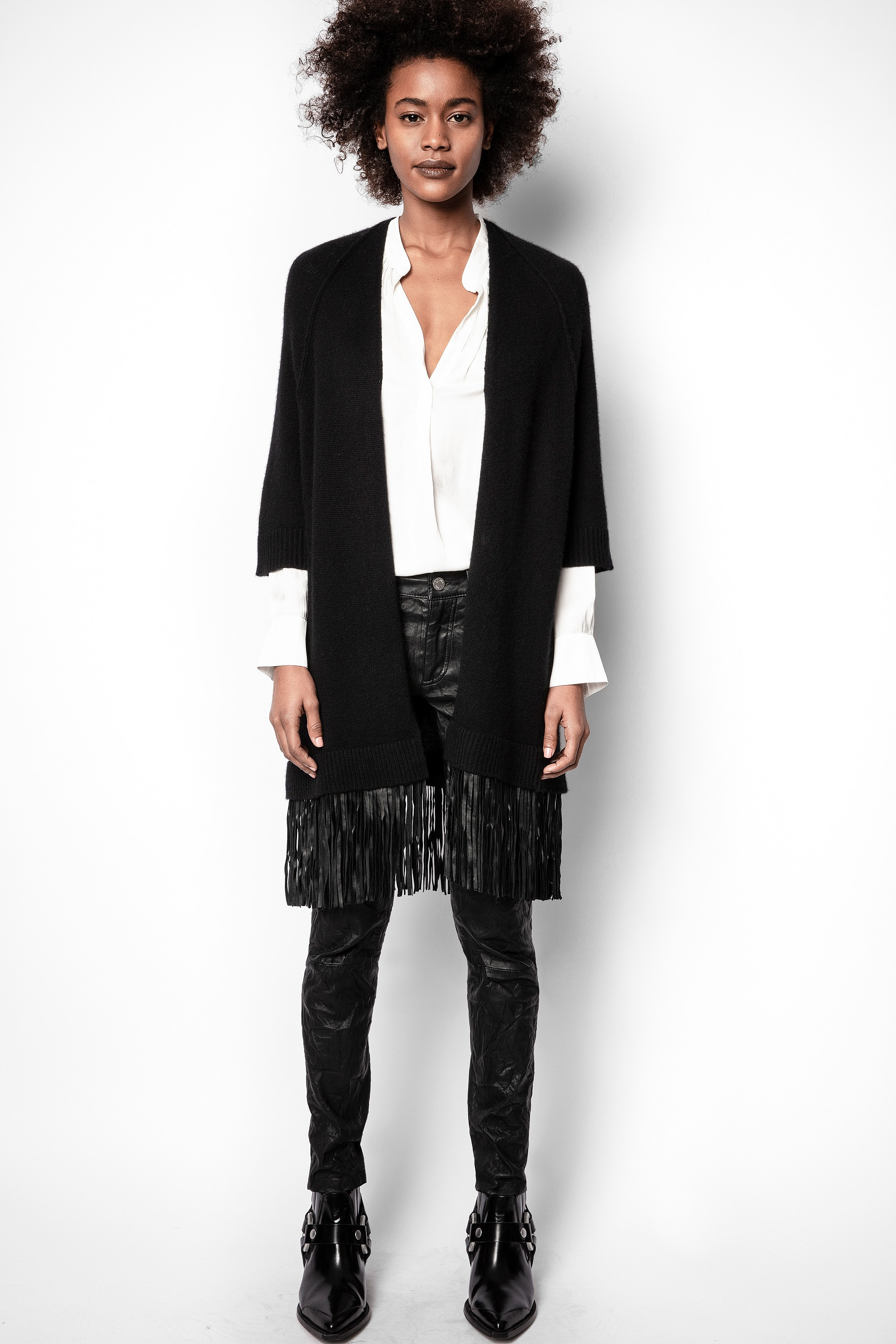 Paloma Leather Cachemire Cardigan