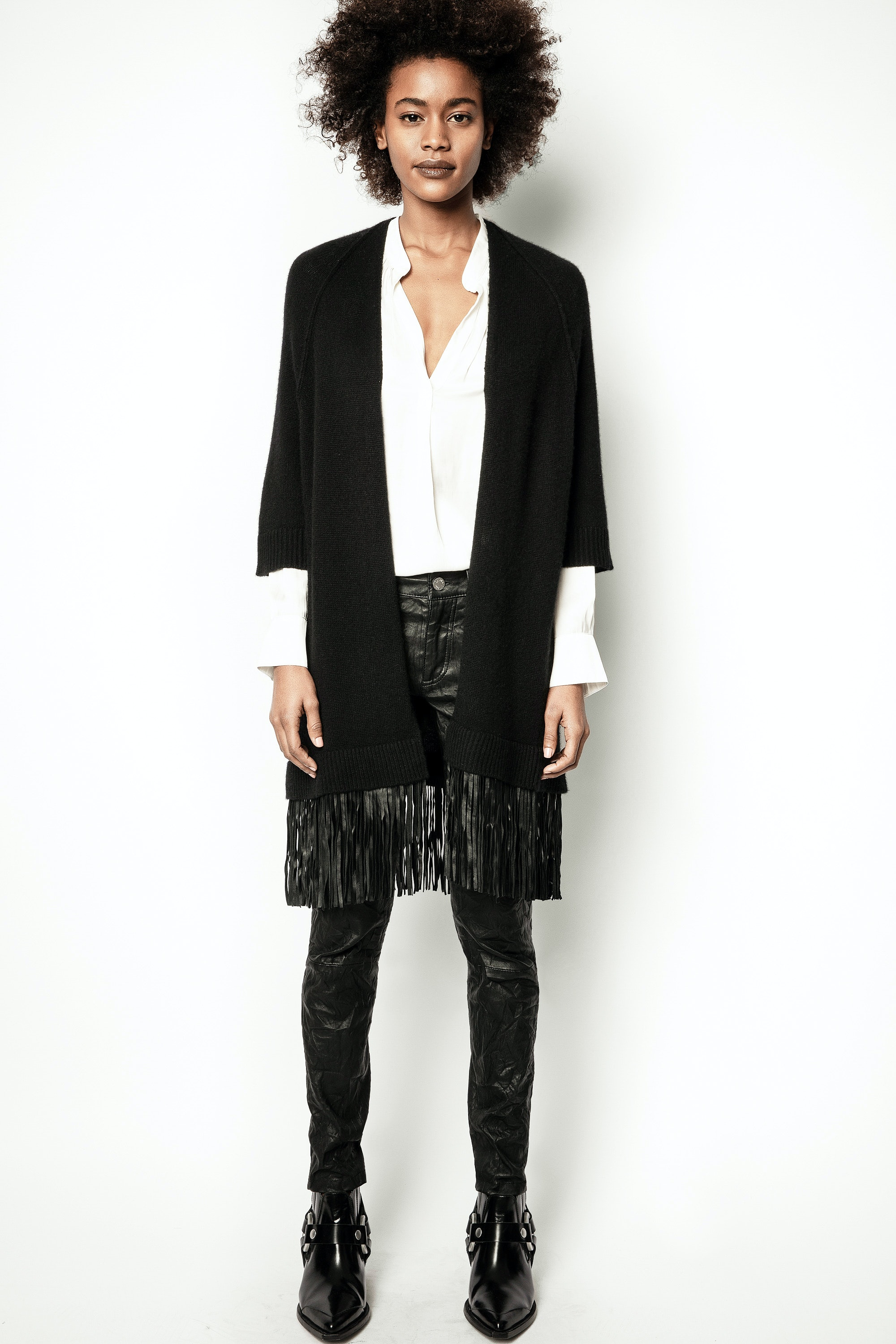 Cardigan Paloma Leather Cachemire