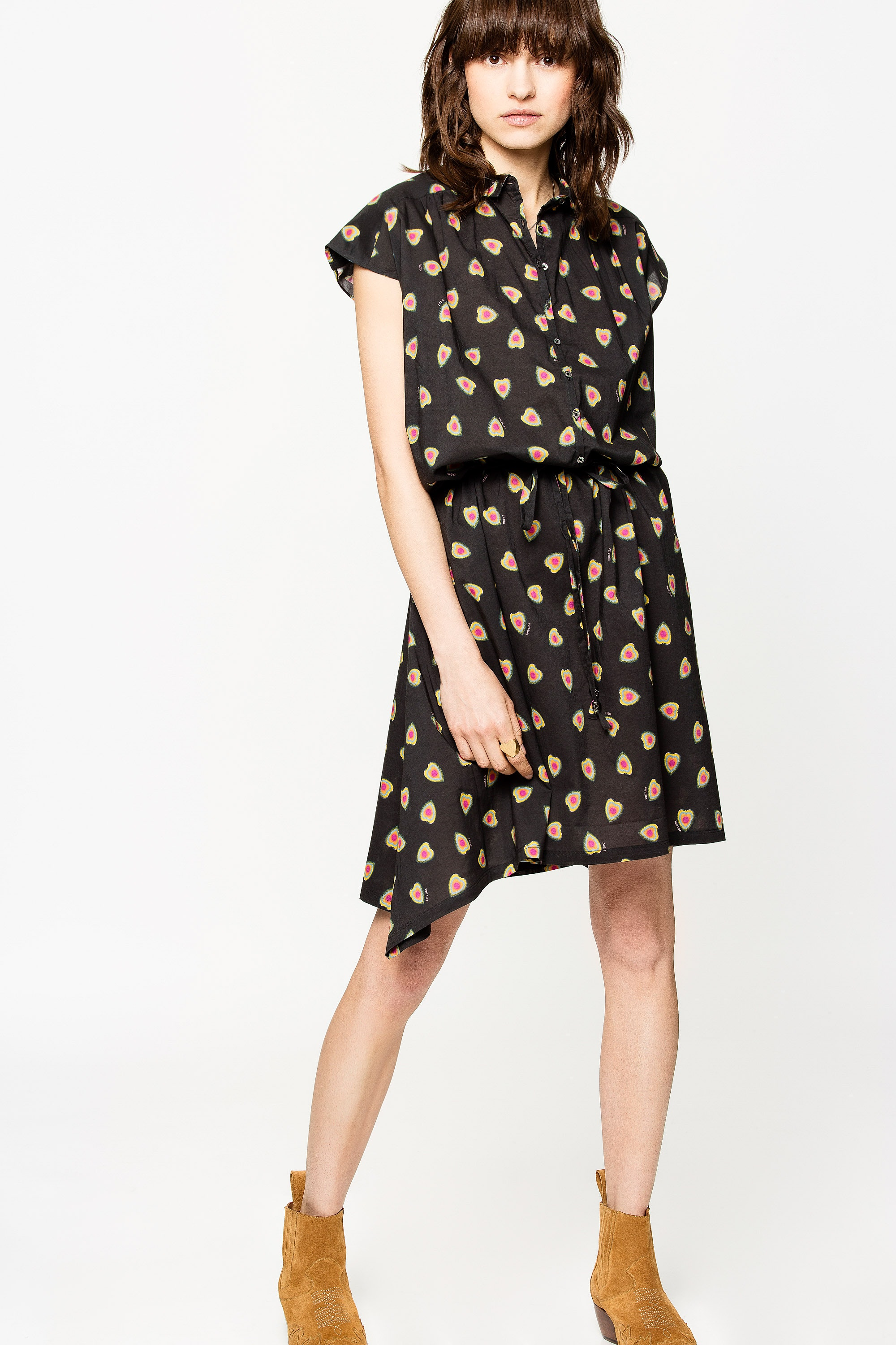 Requiem Print Cœur Dress