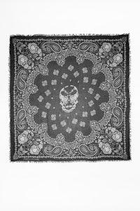 Delta Paisley Skull scarf