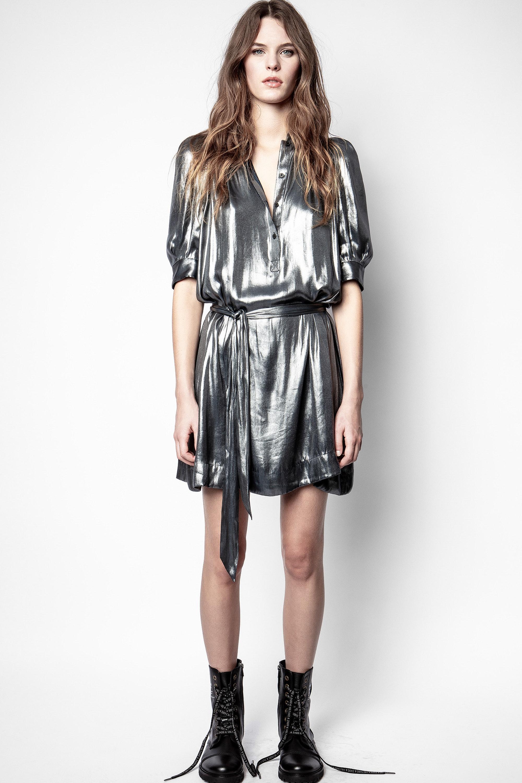 Retouch Foil Dress