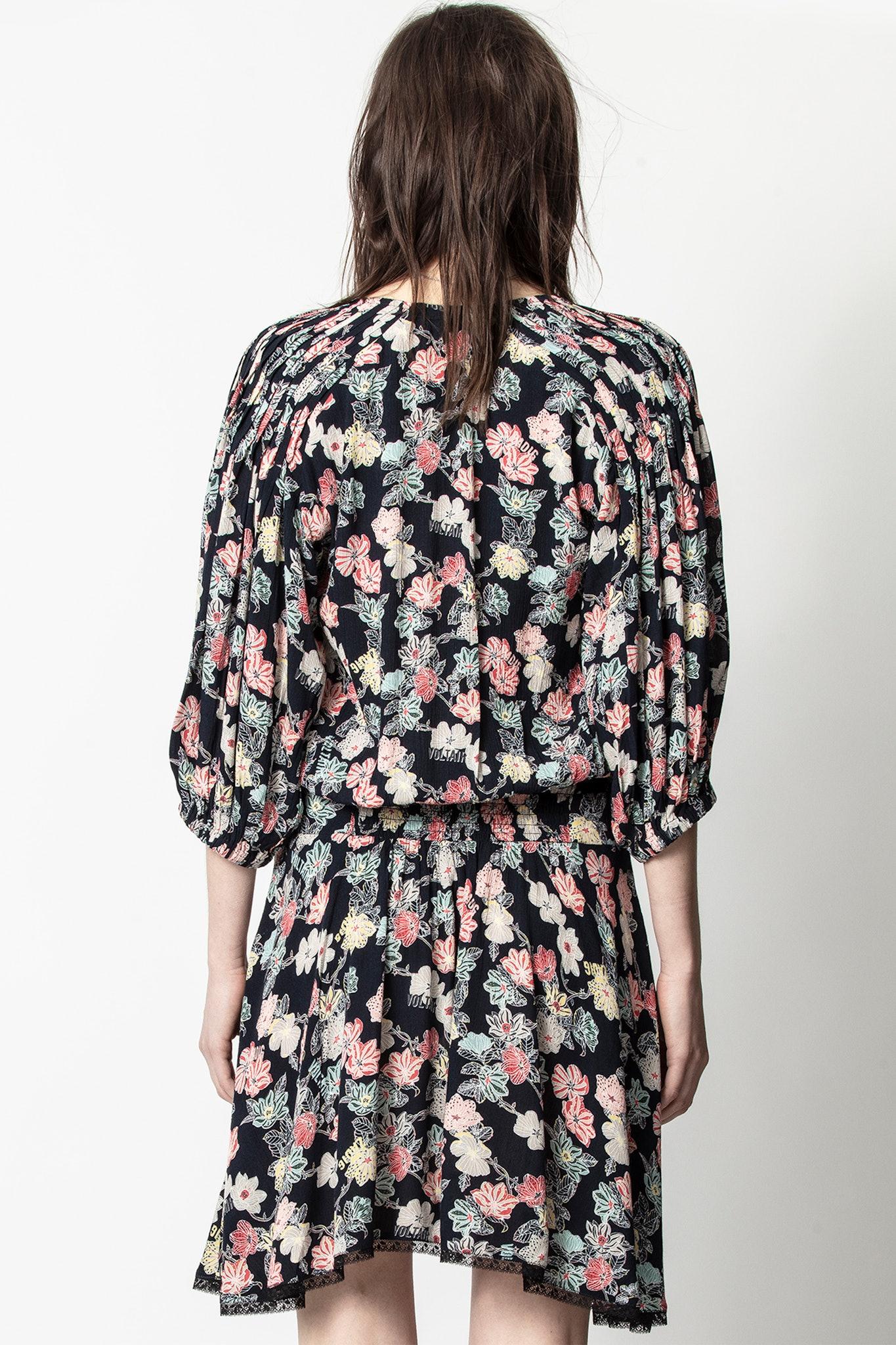 Raspali Print Flowers Dress