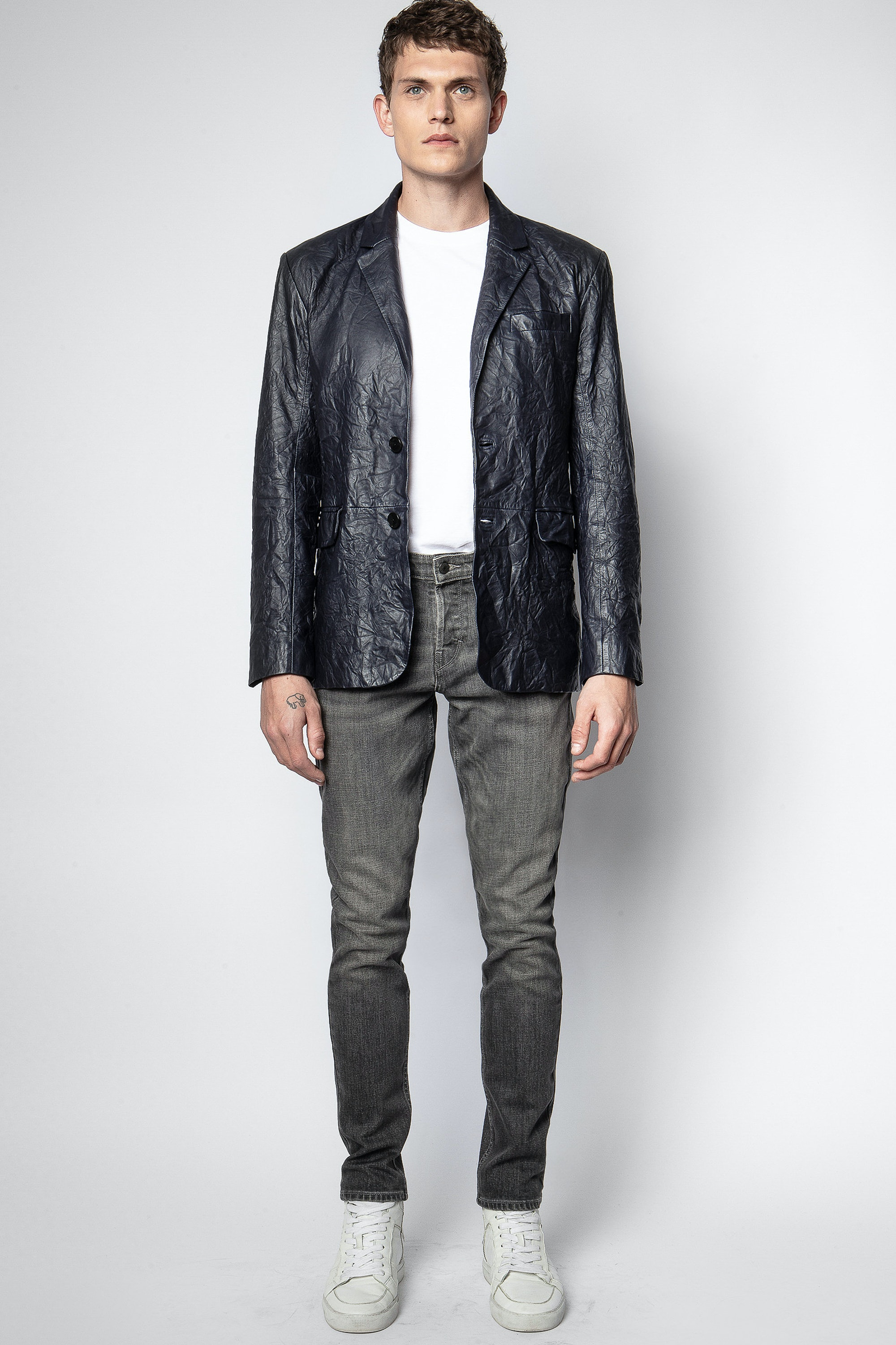 Jacke Valfried Crinkle Leather