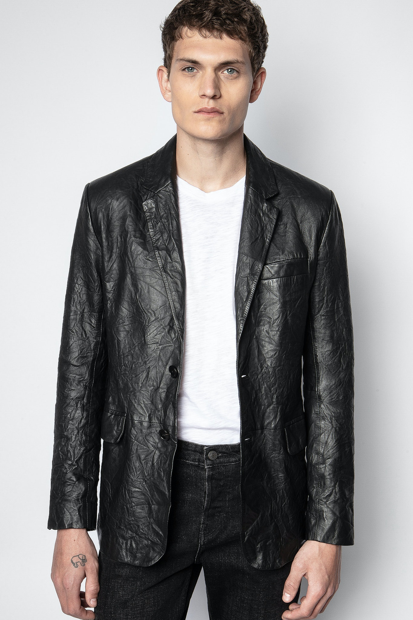 Chaqueta Valfried Crinkle Leather
