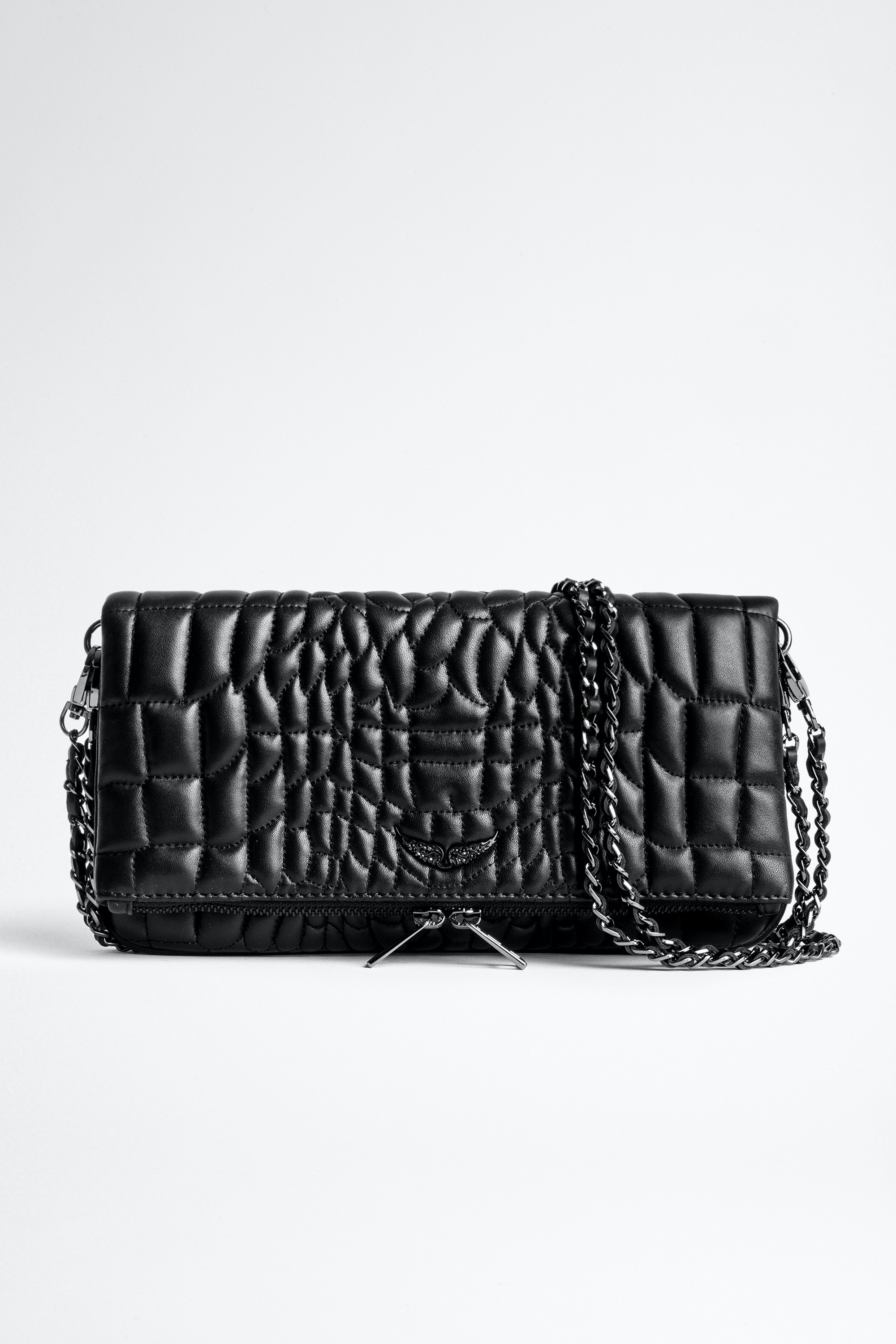 Rock Croco Quilted Clutch