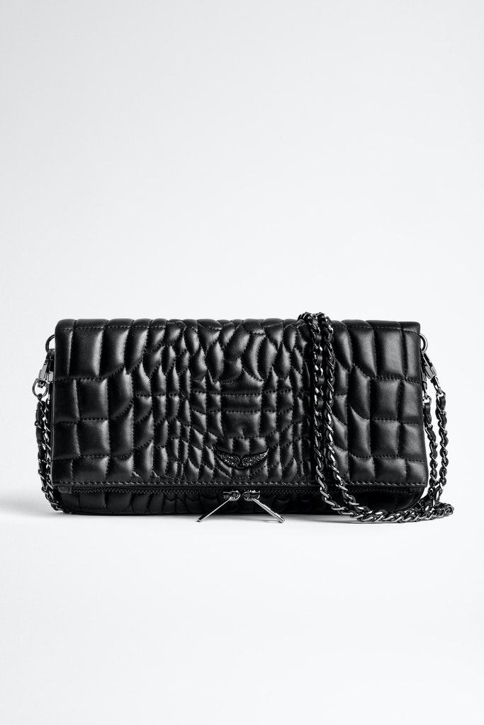 Pochette Rock Croco Quilted