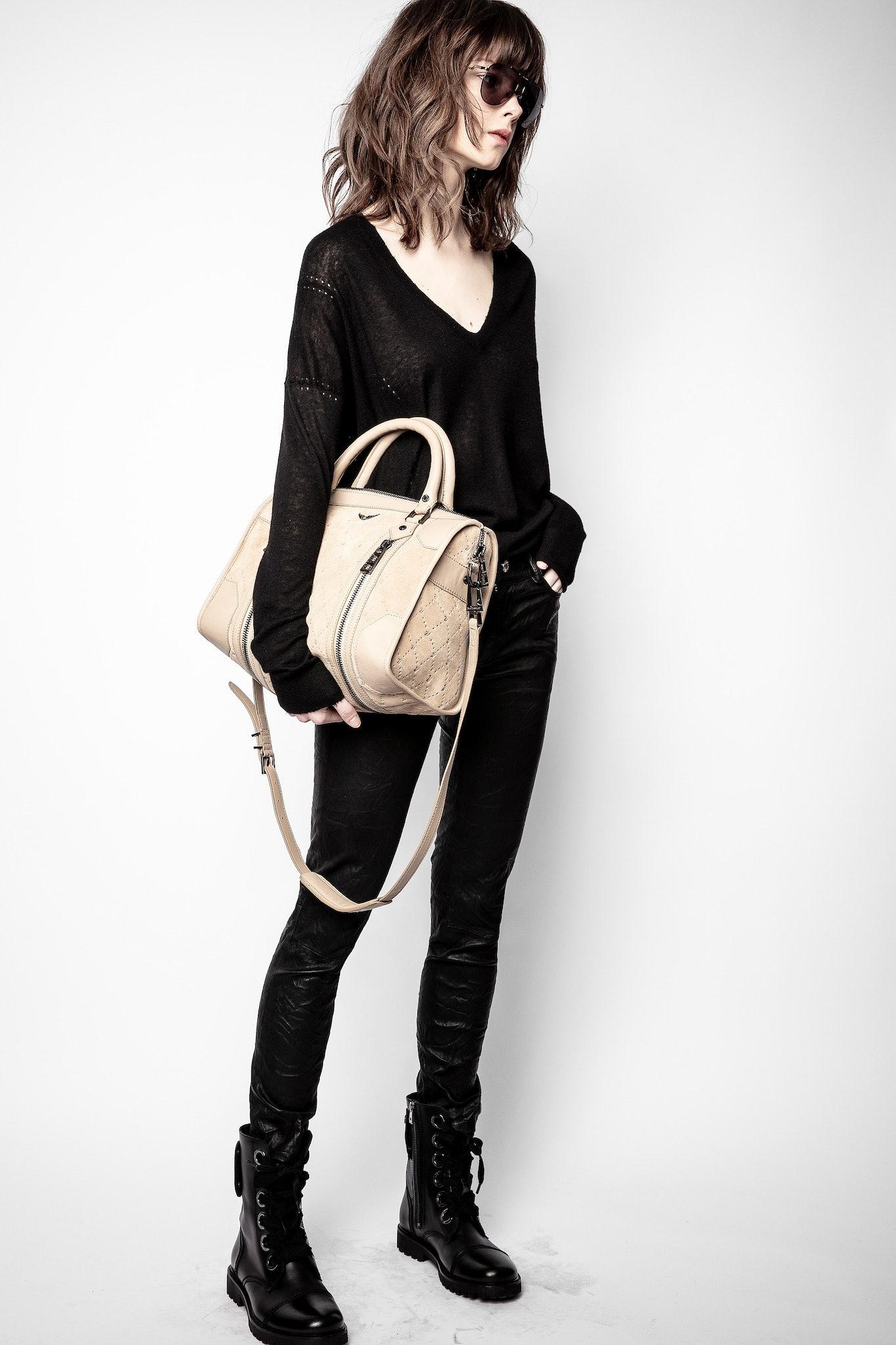 Sunny Medium #2 ZV Embossed Suede Bag