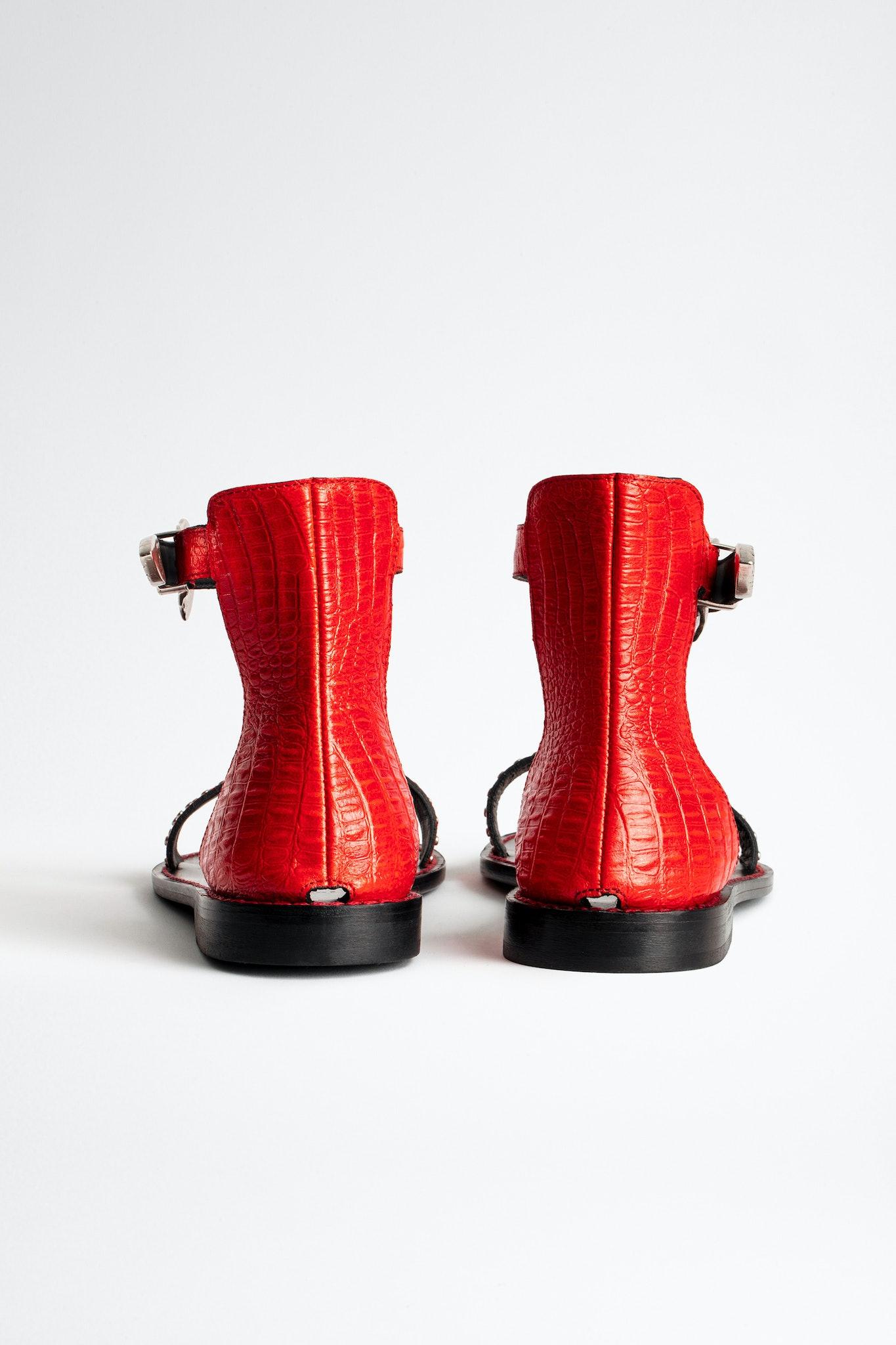 Ever Croco Sandals
