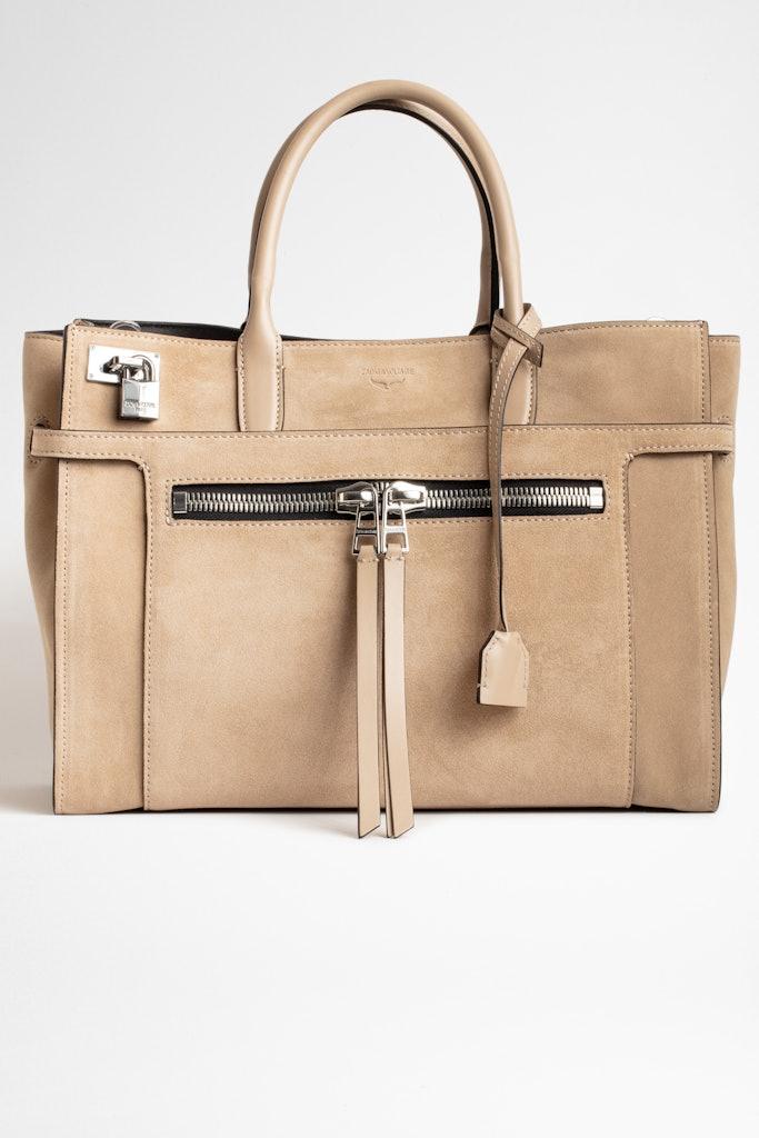 Candide Large Zip Suede Bag