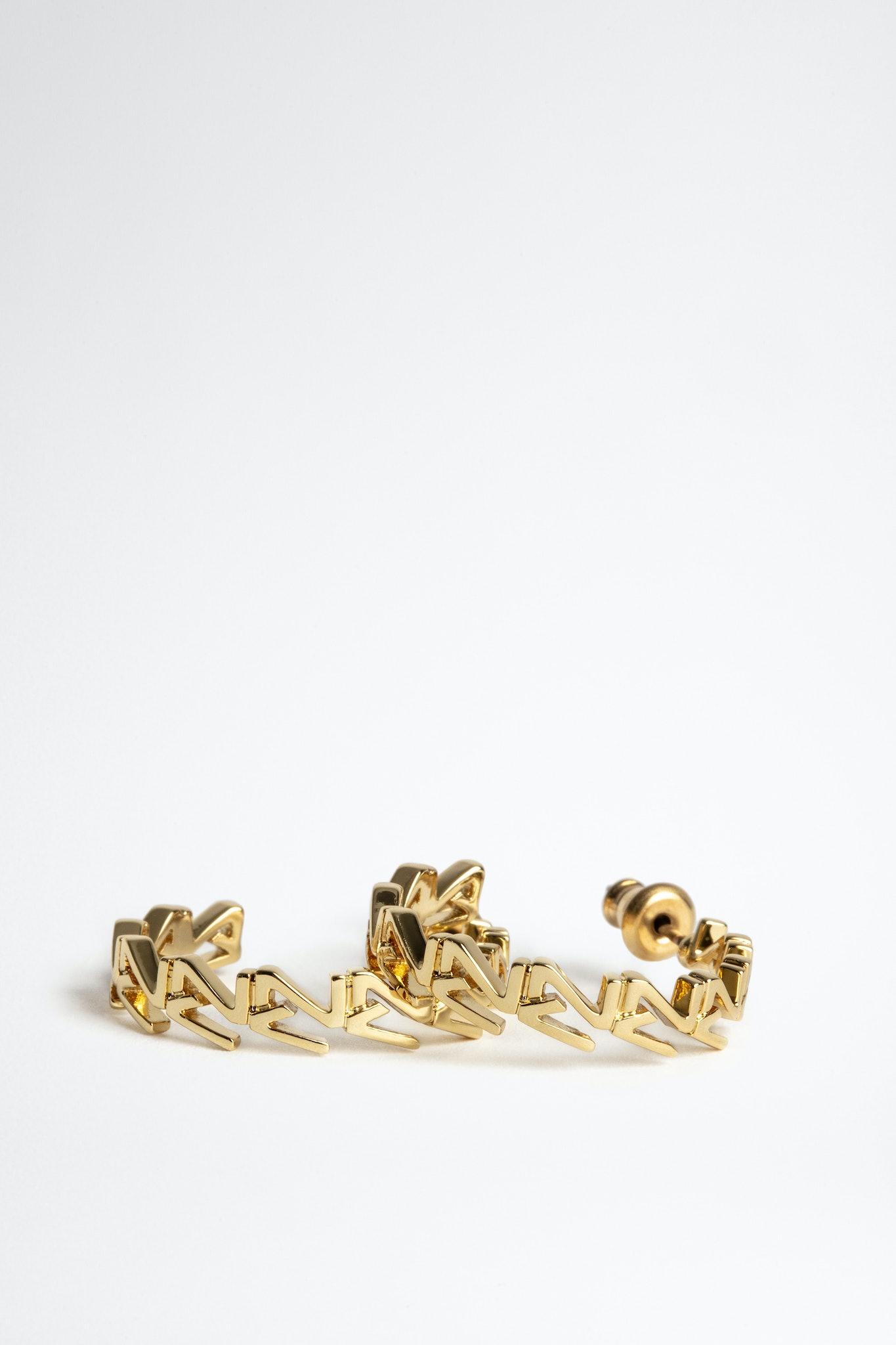 Boucles d'oreilles ZV Initiale