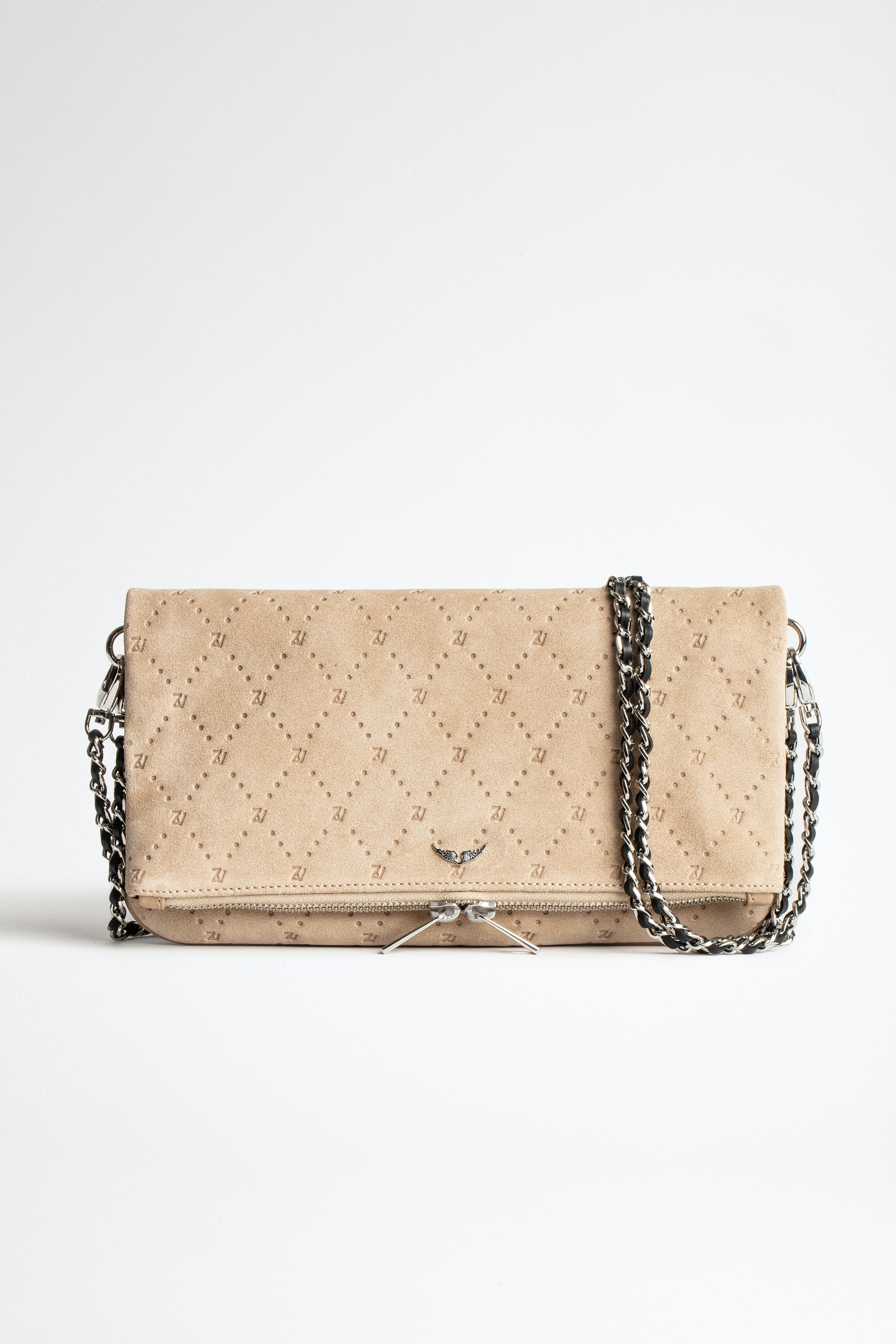 Rock ZV Embossed Suede Clutch