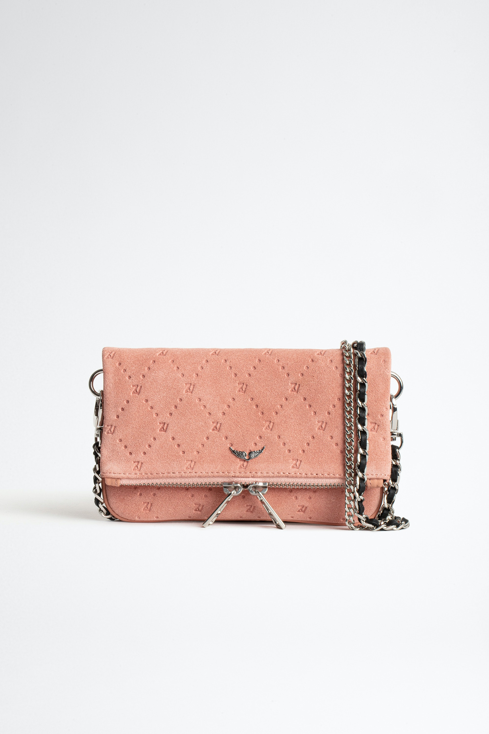 Rock Nano Zv Embossed Suede Clutch
