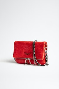 Rock Nano Embossed Tiny Croco Clutch