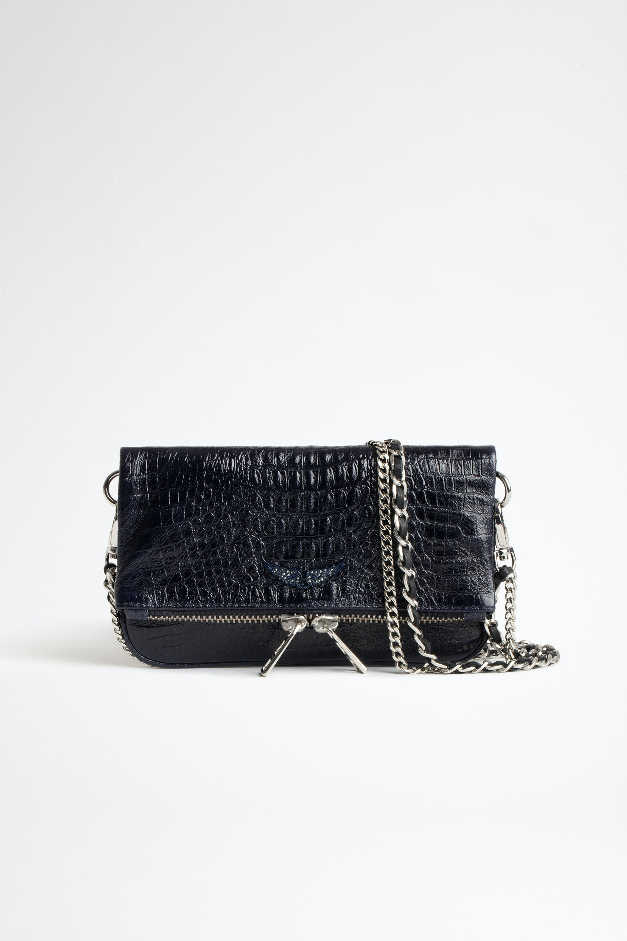 Bolso de mano Rock Nano Embossed Tiny Croco