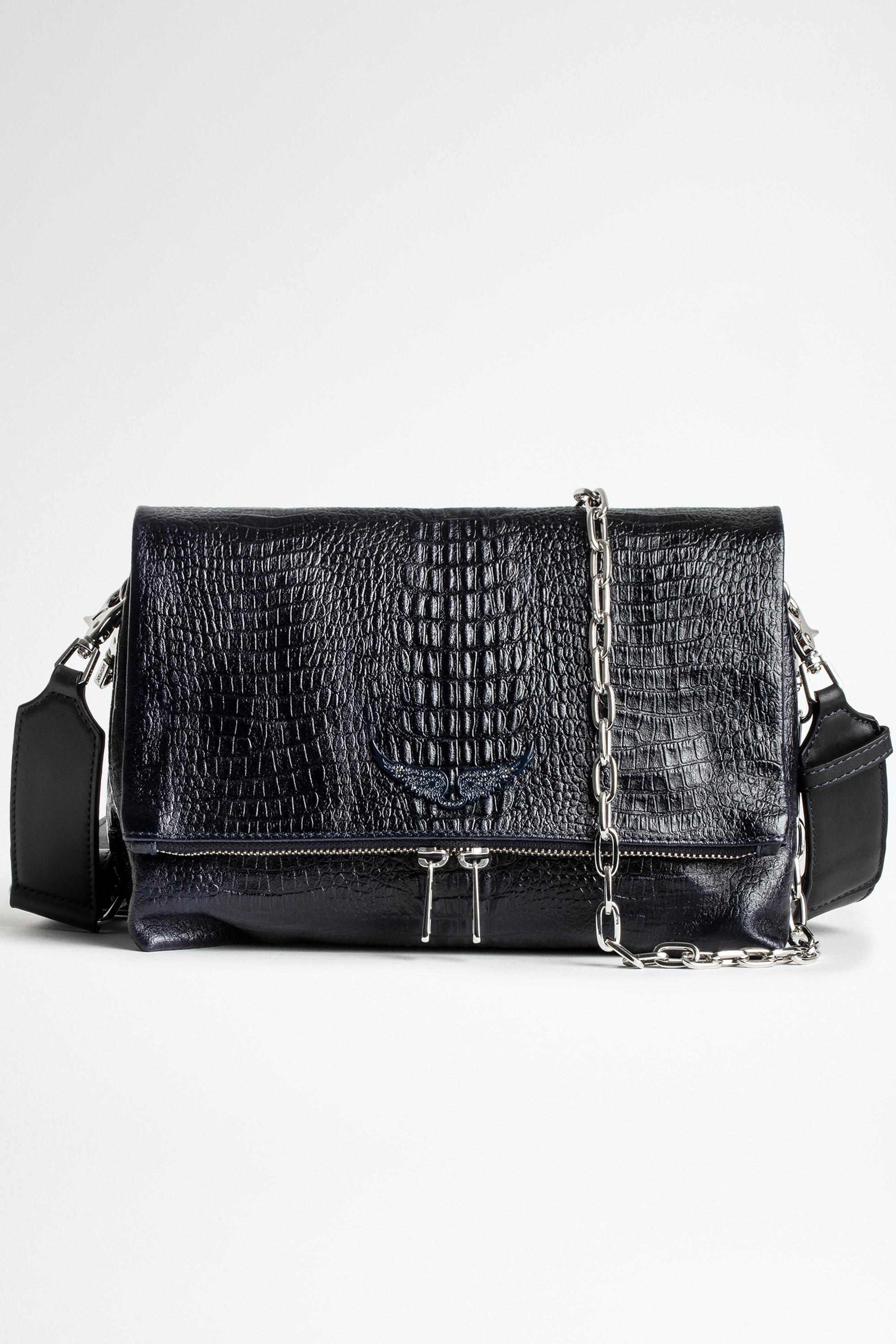 Rocky Embossed Tiny Croco Bag
