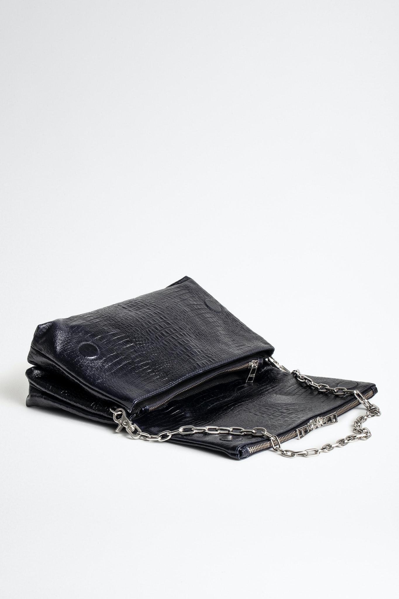 Rocky Embossed Tiny Croco Bag