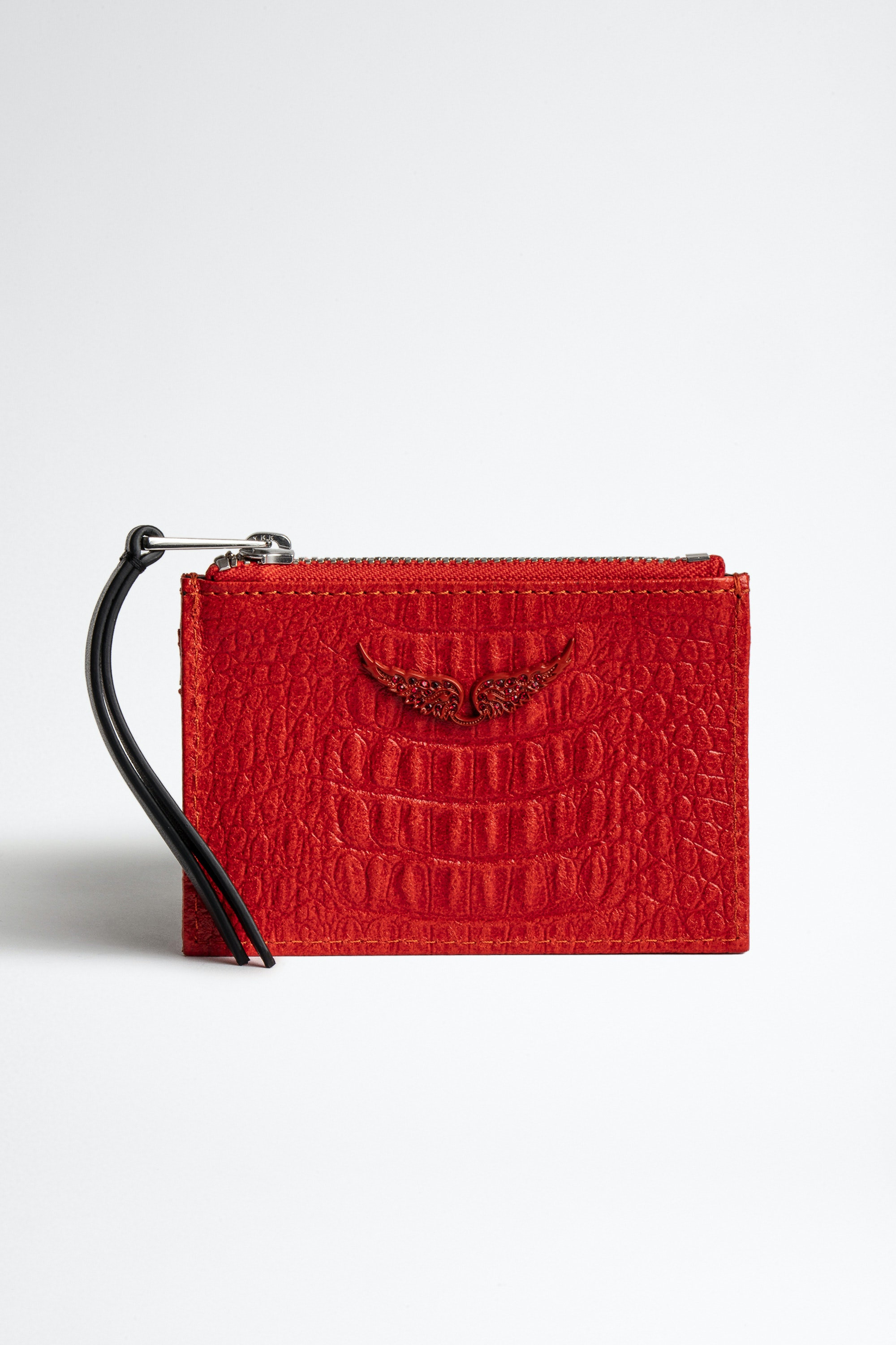 ZV Pass Embossed Tiny Croco Card Holder