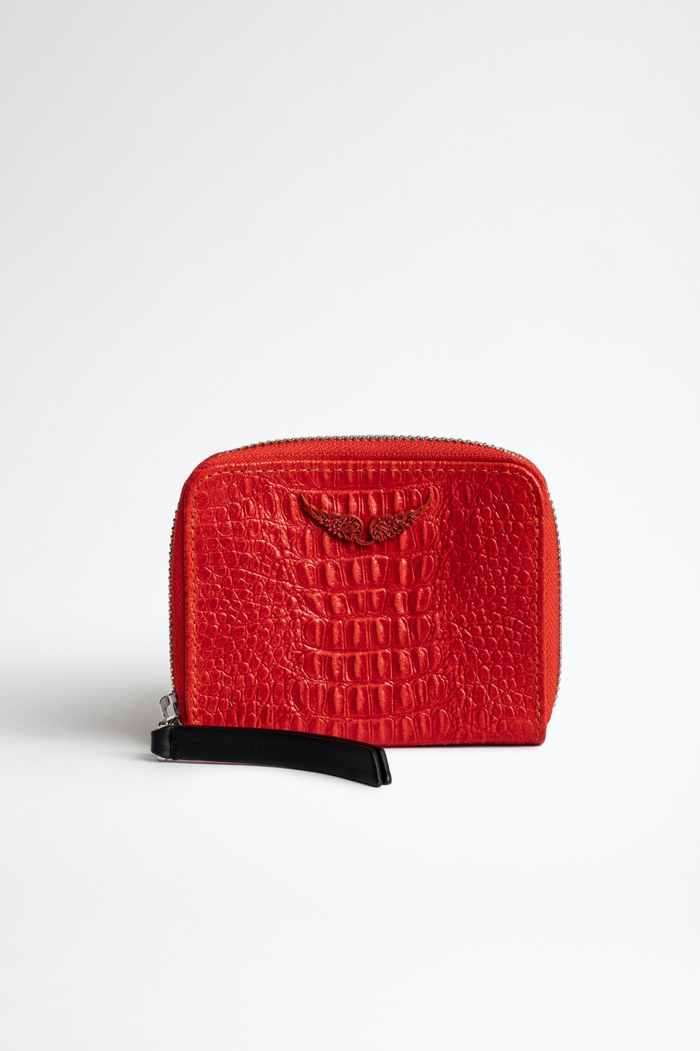 Mini ZV Embossed Tiny Croco Coin Purse
