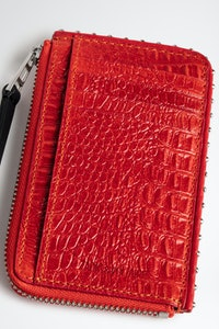 ZV Card Embossed Tiny Croco Card Holder