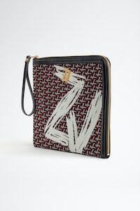 ZV Initiale La Maxi Pouch clutch bag Monogram Coat of arms