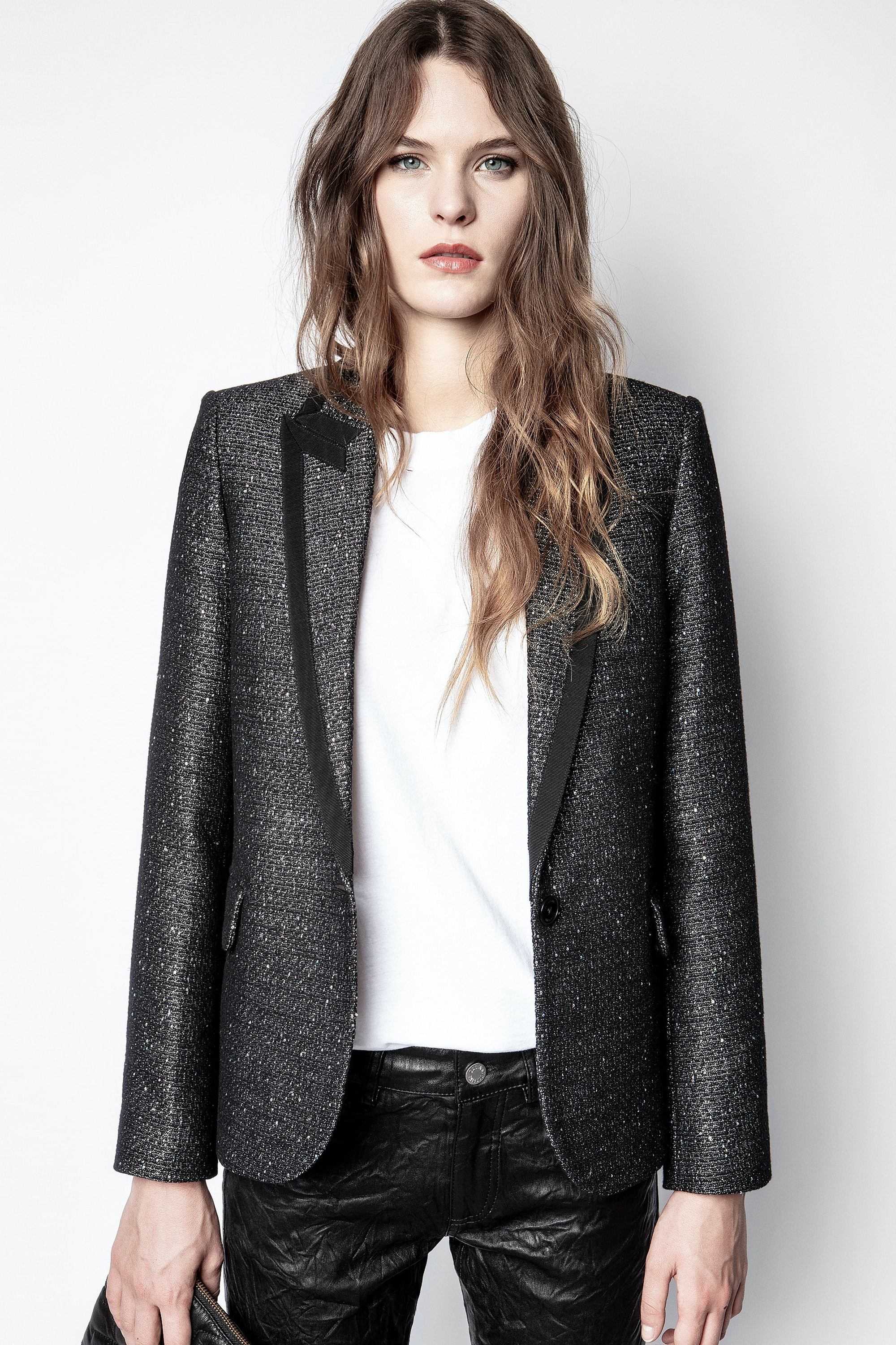 Victor Fantaisie Tweed Blazer