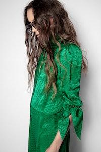 ZV Bow jacquard dress