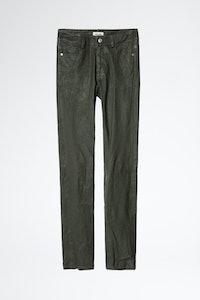 Phlame Cuir Froissé Pants