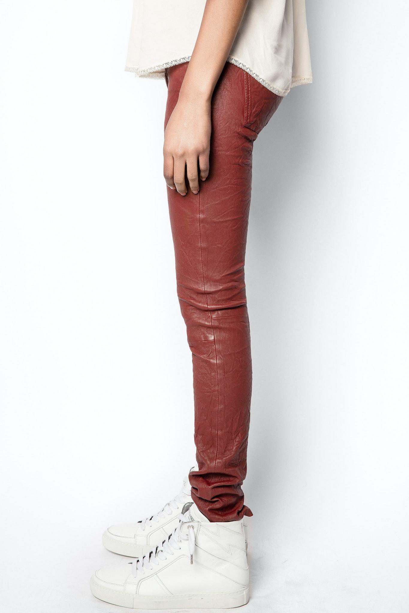 Pantaloni Phlame Cuir Froissé