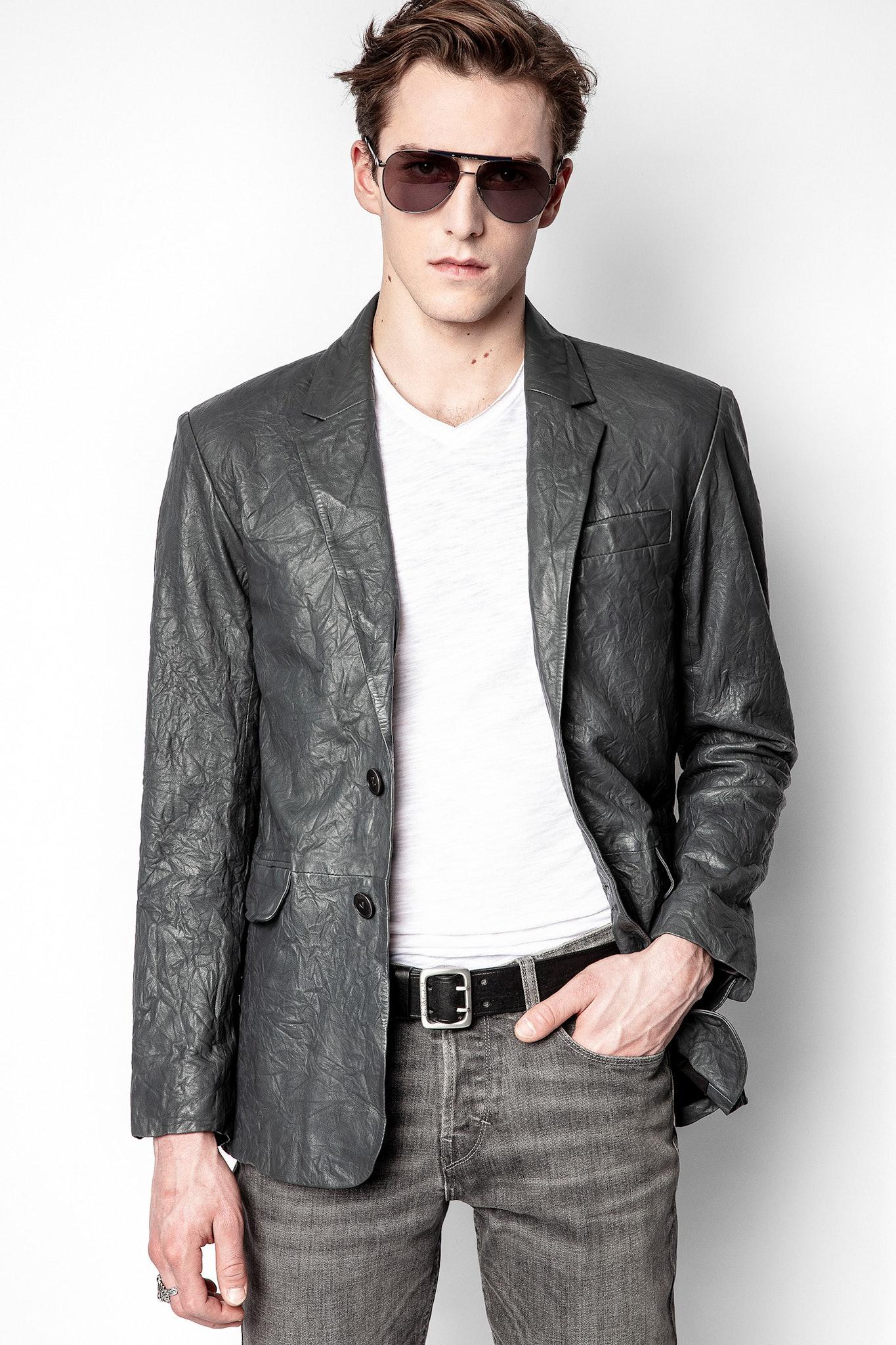 Valfried Cuir Froissé Jacket