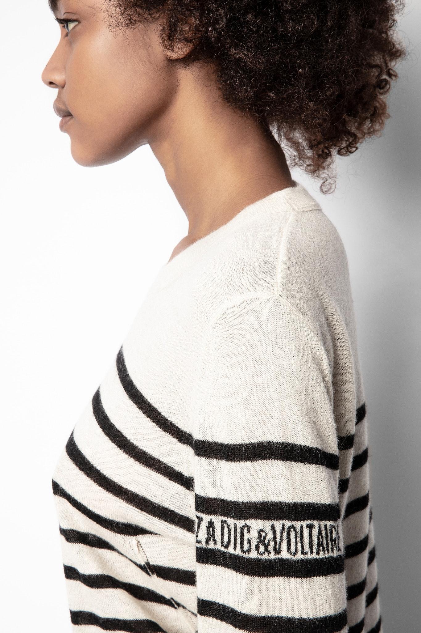 Pullover Miss Stripes Flower Kaschmir