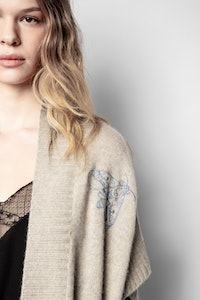 Indiany Tattoo Cachemire Cardigan
