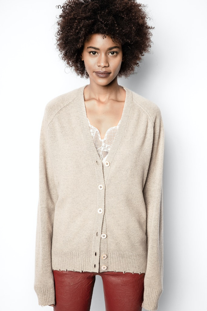 Cardigan Jim Patch Kaschmir