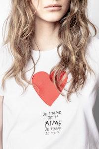 T-Shirt Skinny Je T'aime