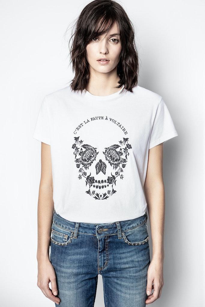 Zoe Skull Voltaire T-shirt