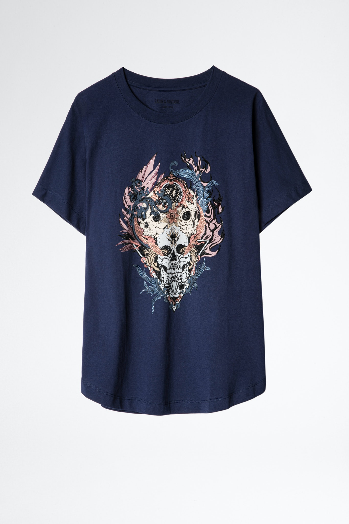 T-Shirt Compo Skull Strass