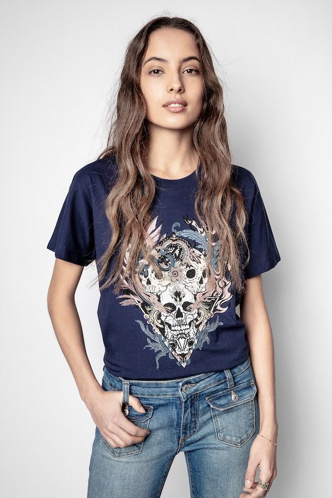 Compo Skull Strass T-shirt