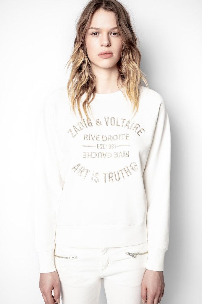 Sweatshirt Upper Blason Bestickt