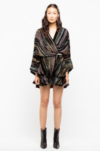 Dress Ruffle Velours
