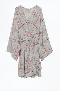 Dress Ruffle Print Ca
