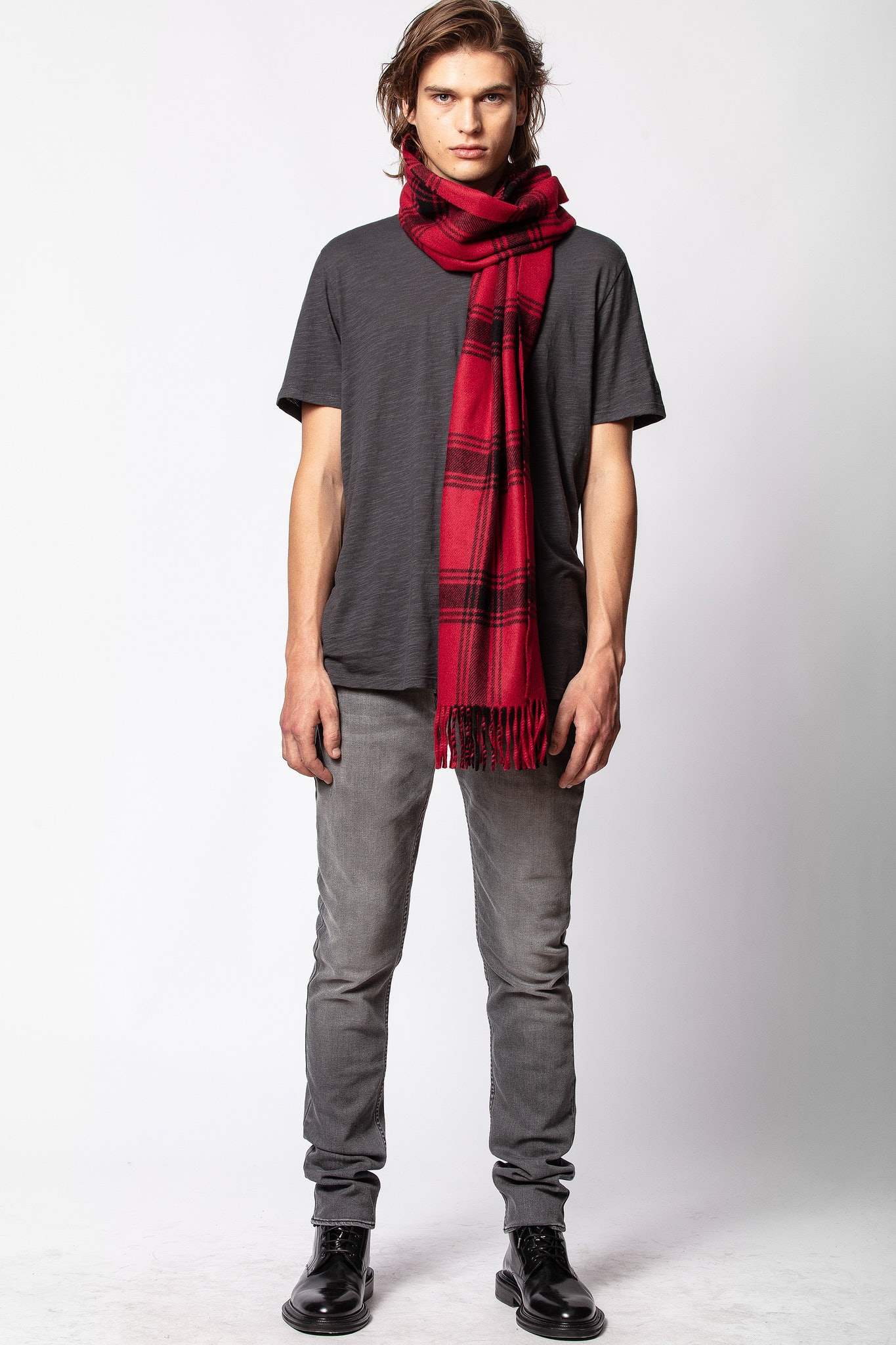 Elliot Check Scarf