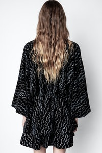 Robe Ruffle Velours