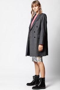 Mina Carreaux Coat