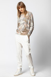 Justy Cachemire Camou Sweater