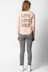 Tunesisches T-Shirt Live Love Rock
