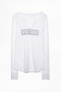 Voltaire Strass Tunisian Collar T-shirt