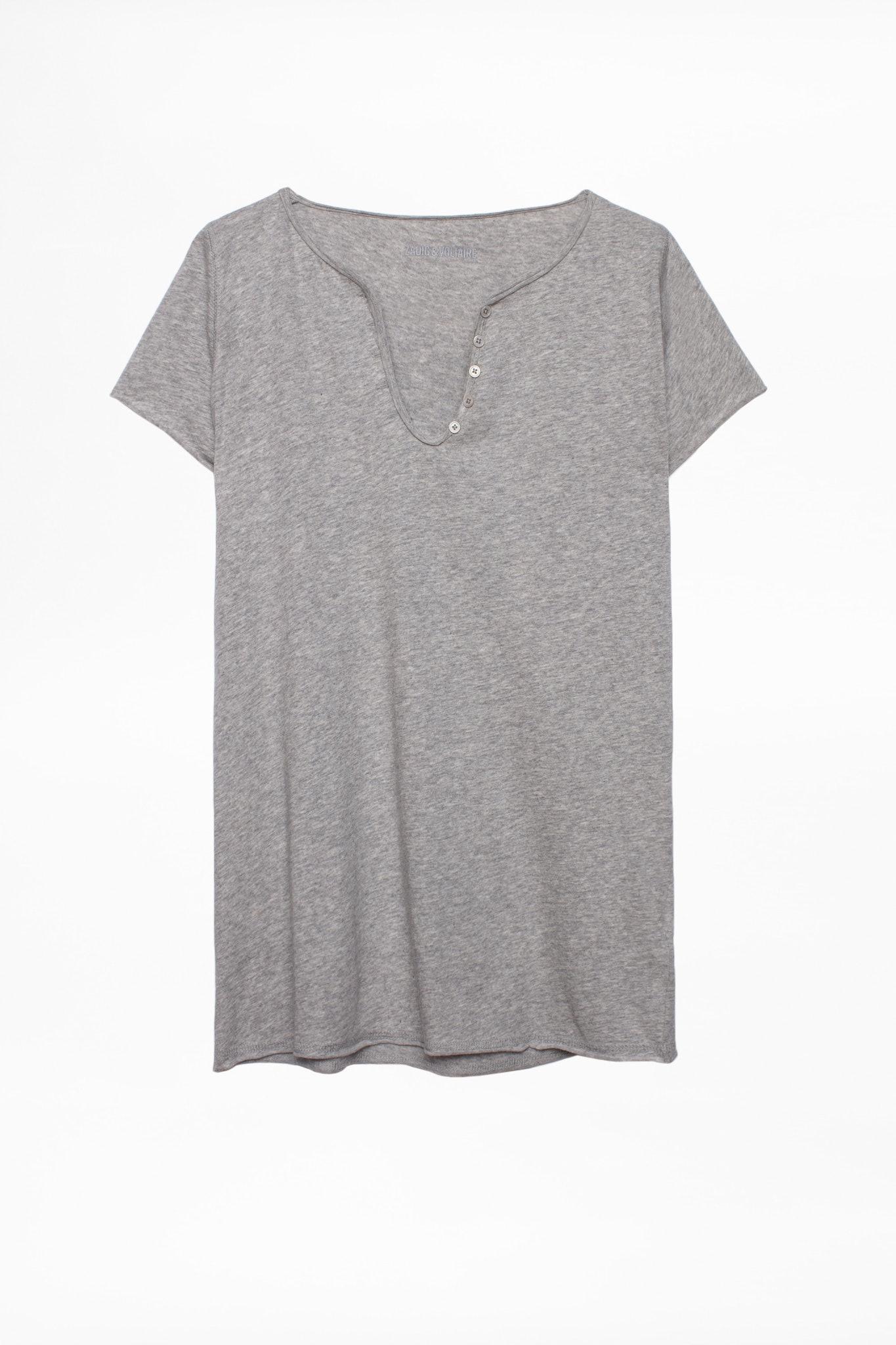 Strass Leo Tunisian Collar T-shirt