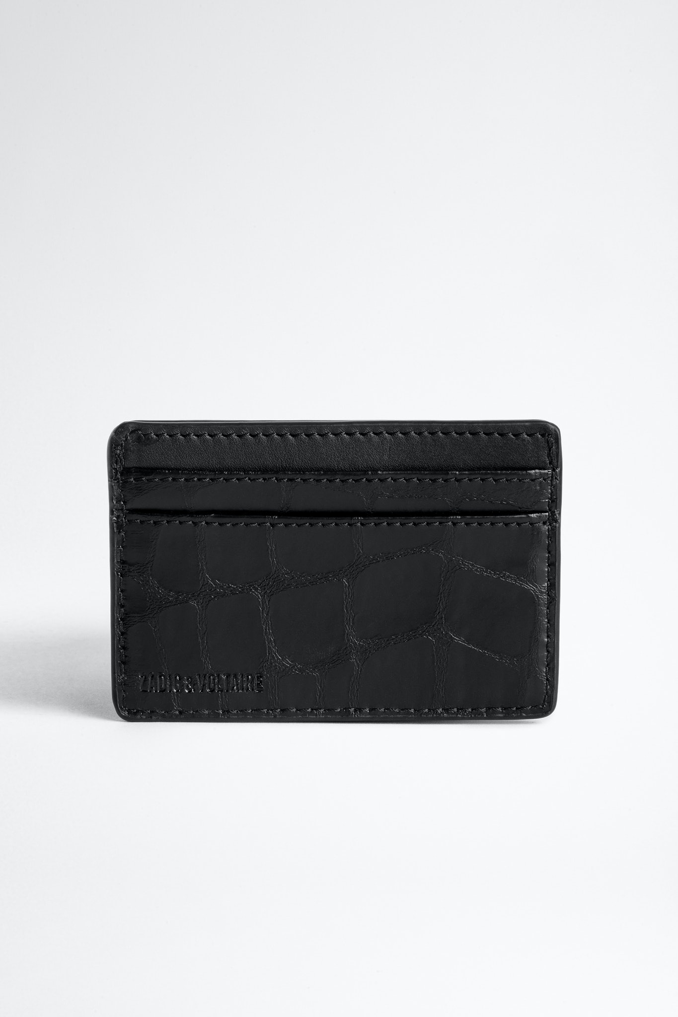 ZV Initiale Nyro Croco Card Holder