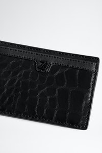 ZV Initiale Niels Croco Card Holder