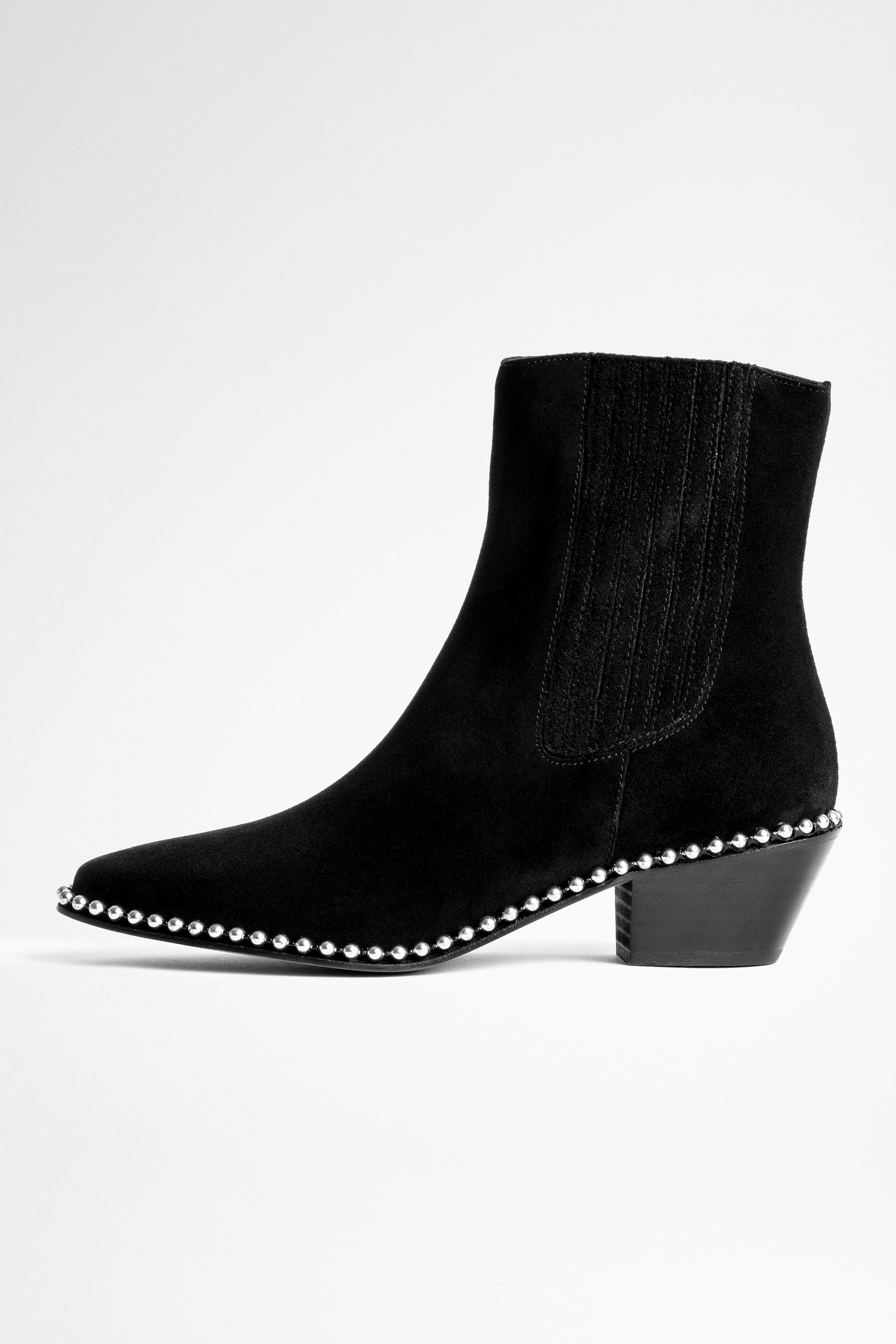 Tyler Suede Studs Ankle Boots