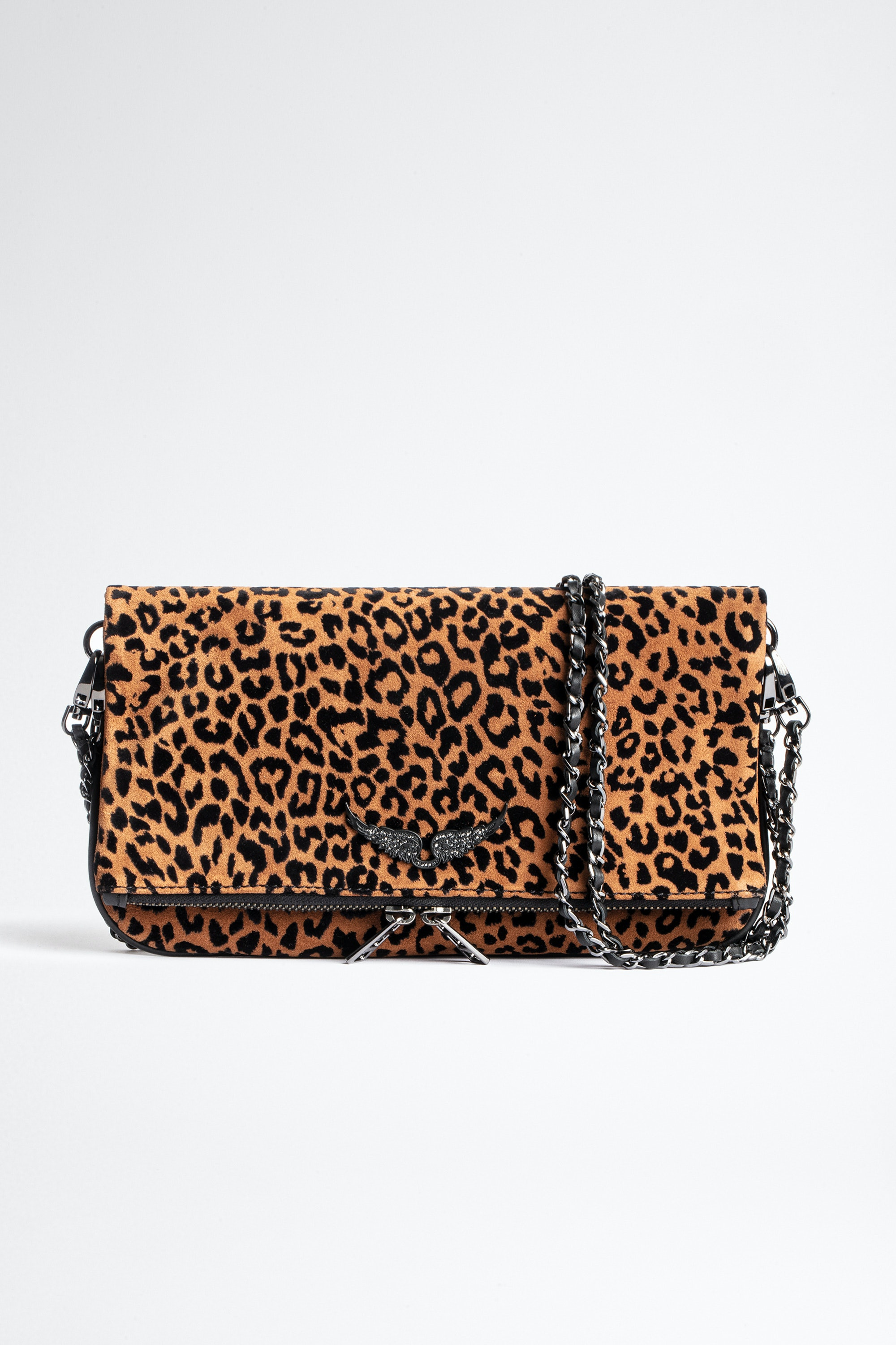 Rock Leo Suede Clutch